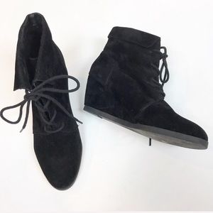 Madden Girl Bootie Black Suede Wedge Ankle Boots
